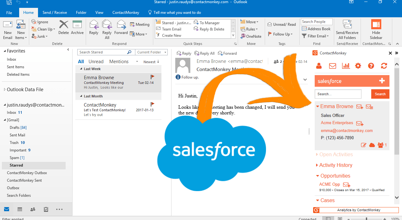 outlook plugin for salesforce