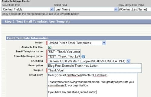 use salesforce email templates in outlook