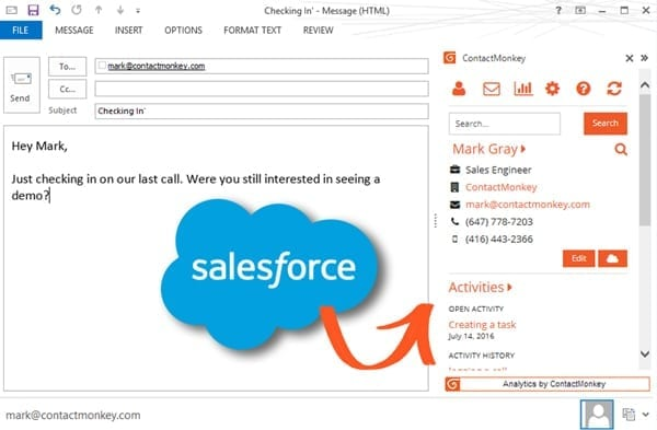Features Add Salesforce to Outlook