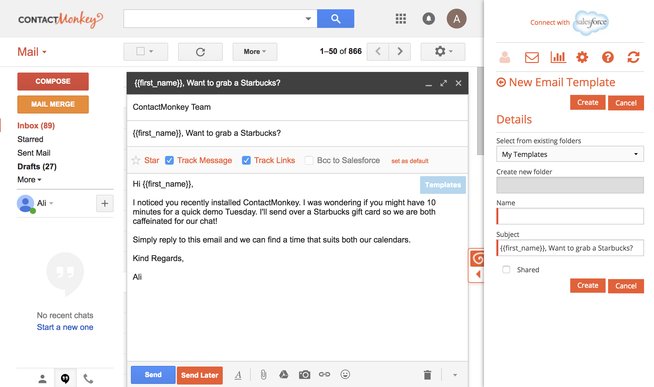 email template for gmail