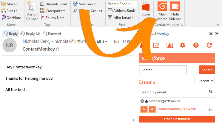 Mail Merge in Outlook