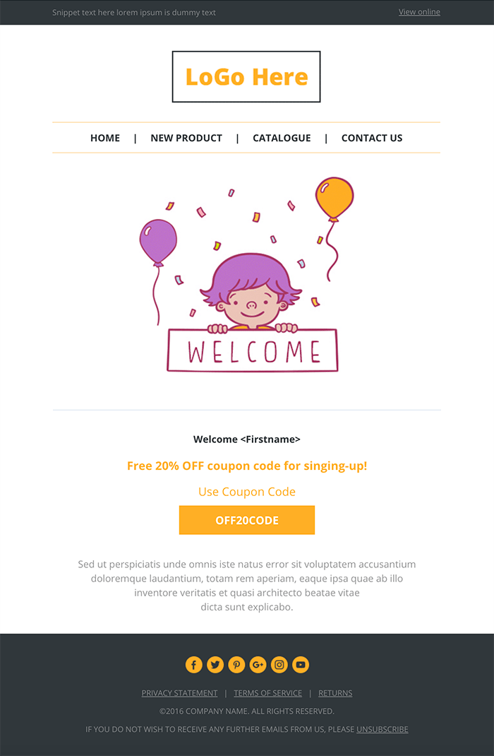 Responsive Email Template from SendWithUs for Employee Newsletter