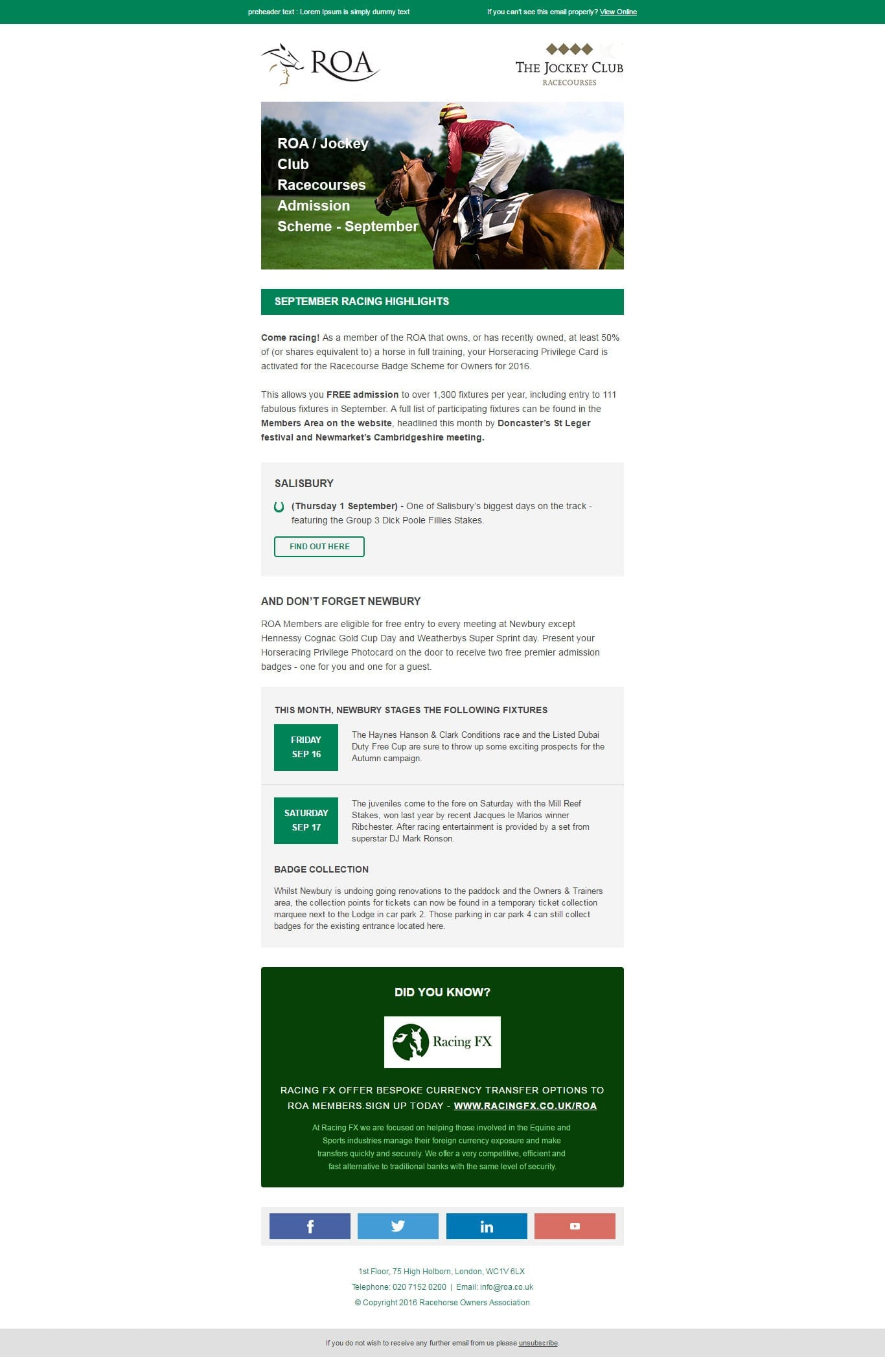 Responsive Email Template from EmailMonks