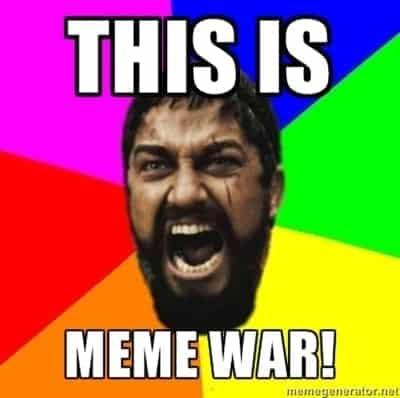 Meme Wars on Communication Channels