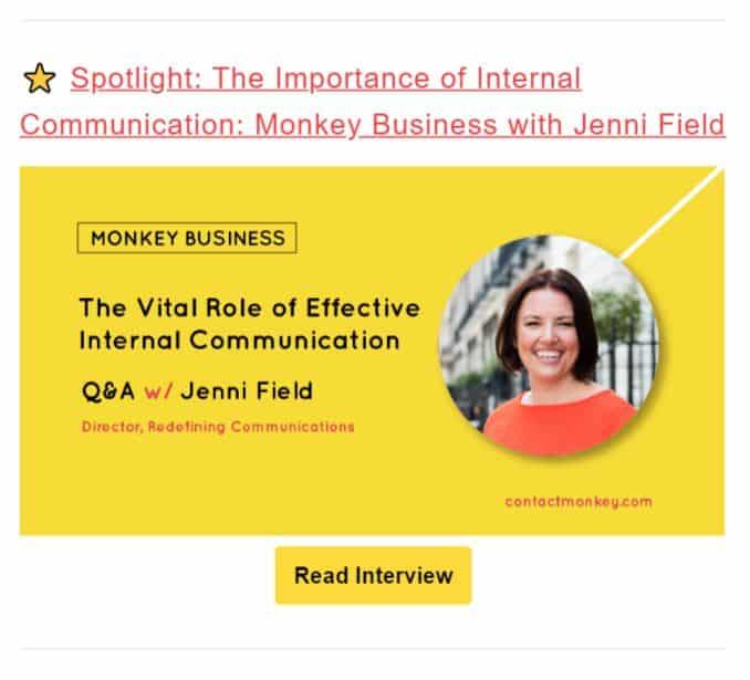 Employee Spotlights-newsletter-content-ideas
