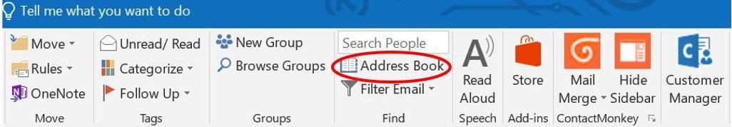 address book for outlook distribution list