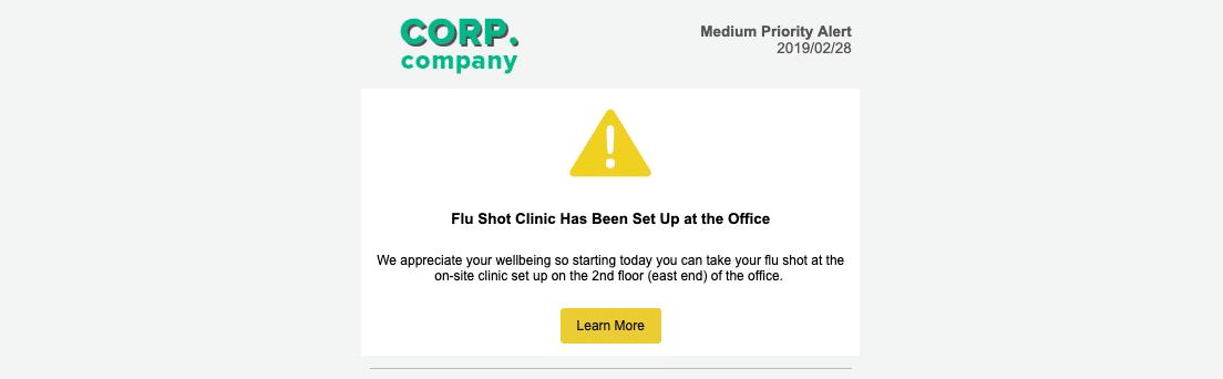 flu shot-company-newsletter-ideas