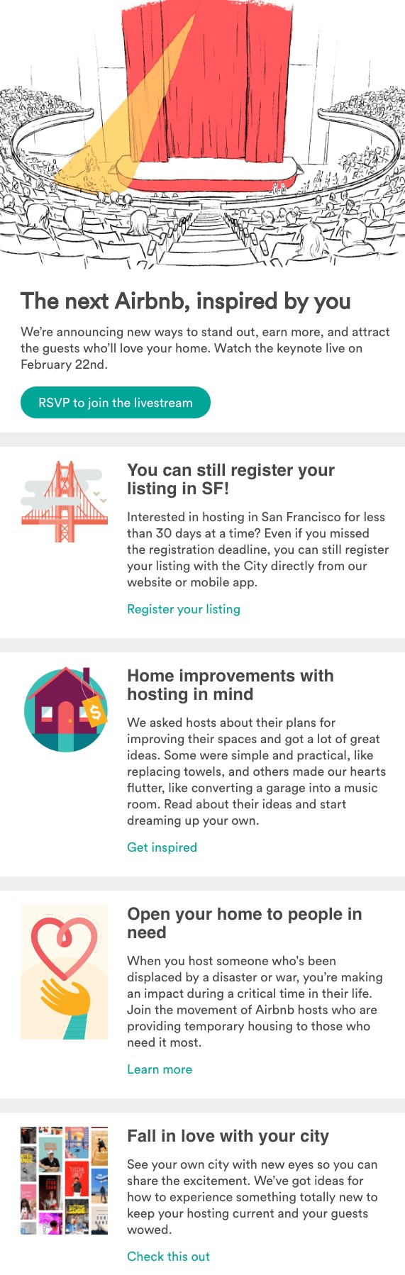 airbnb-employee newsletters