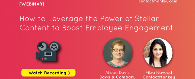 improve employee engagement webinar