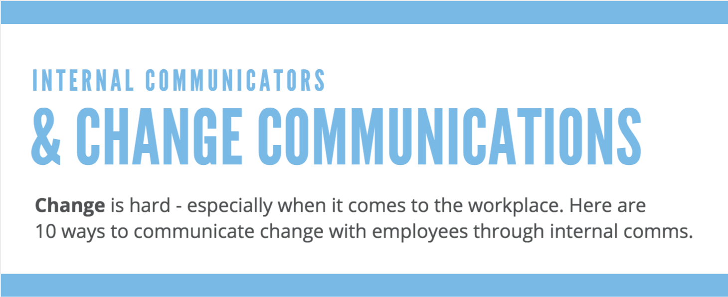 Communicating Corporate Changes