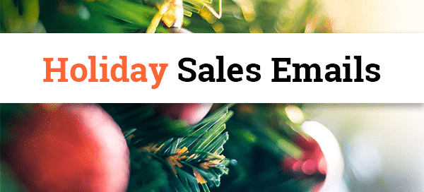 Holiday Sales Emails