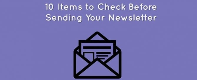 email newsletter testing