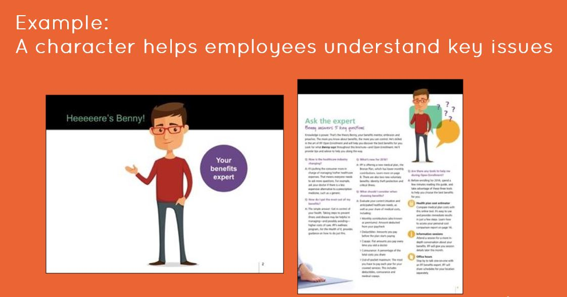 improve employee engagement with characters