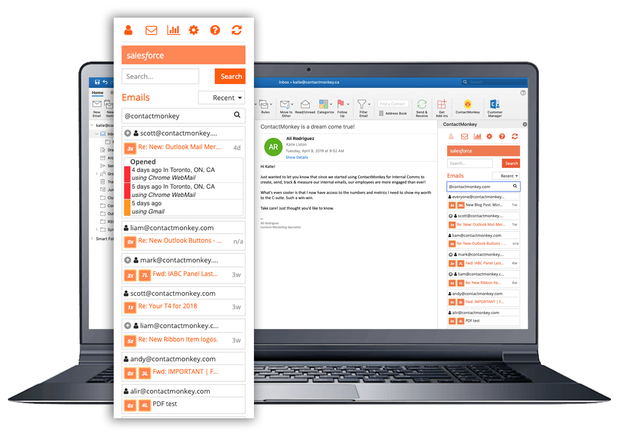 outlook mail merge email tracking real time alerts
