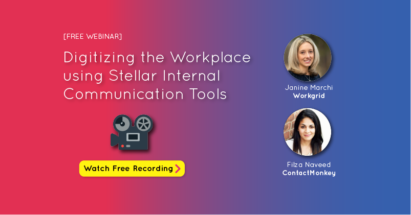 Looking for stellar digital workplace tools to improve internal communication in your organization? Listen to our webinar on digitizing the workplace!