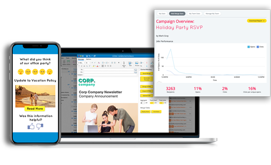 Internal Communications Email Tracking Platform for Outlook