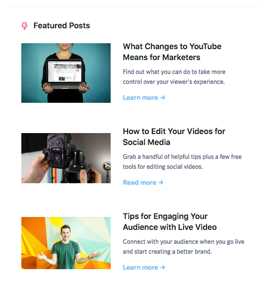 company blog screenshot