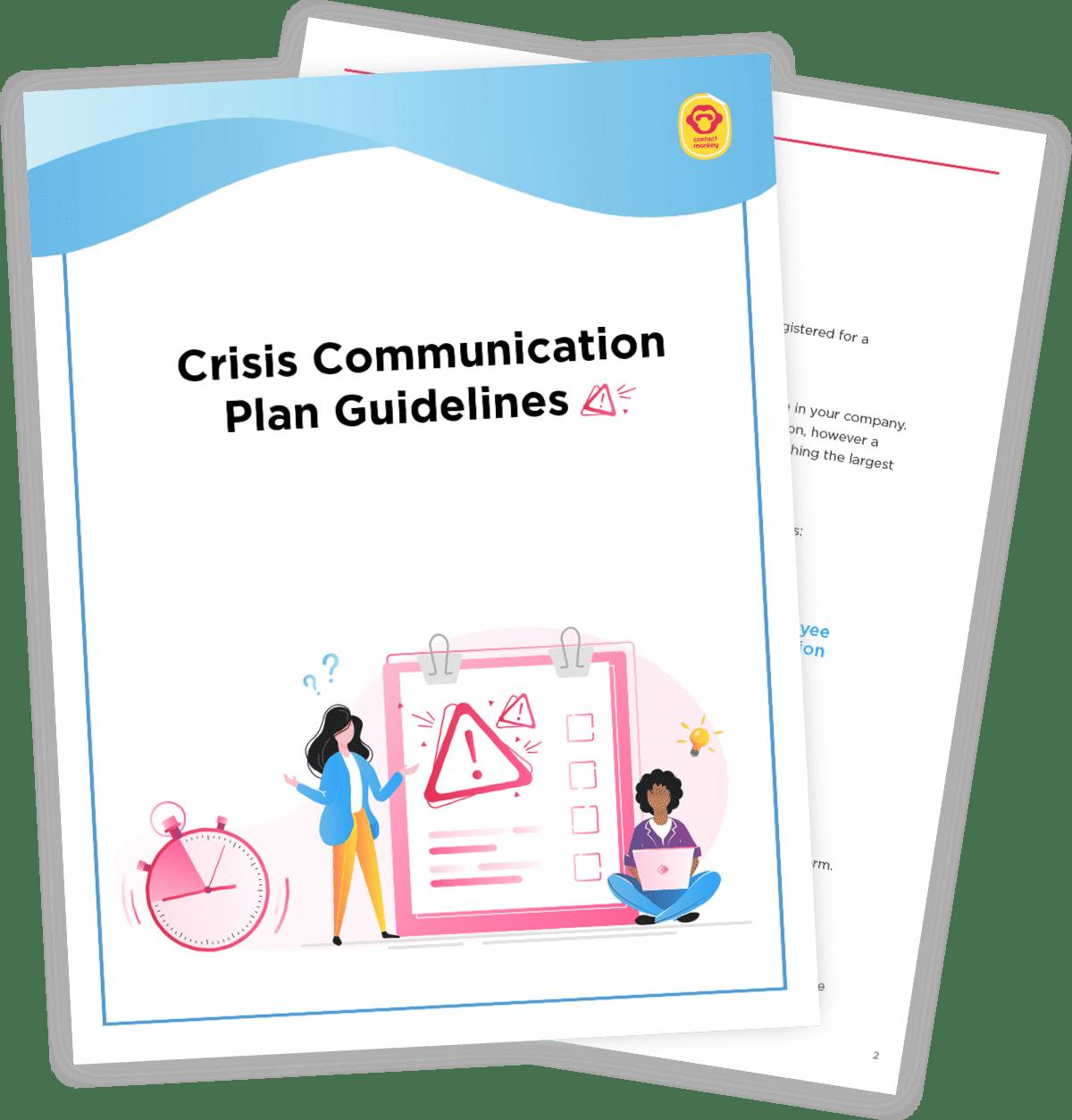crisis communications plan template